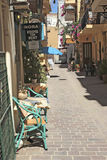 Street in Chania, Greece Royalty Free Stock Photo