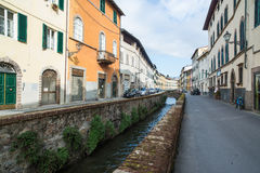 Street characteristic of the ditch lucca tuscany Italy europe Royalty Free Stock Image