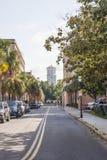 Street of Charleston Toward Old Church Royalty Free Stock Images