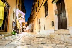 Street in charming Rovinj, Croatia Stock Image