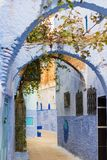 Street of Chefchaouen, Morocco royalty free stock photo