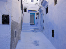 Street in Chefchaouen, Morocco Royalty Free Stock Photo