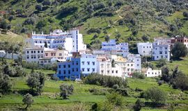 Street of Chefchaouen royalty free stock photo