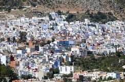 Street of Chefchaouen stock photography
