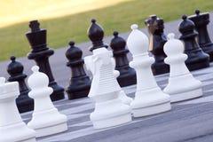 Street chess stock photo