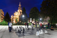 Street chess Stock Images