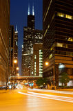 Street of Chicago. Royalty Free Stock Image