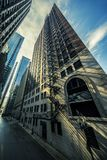 Street in Chicago with morning light royalty free stock image