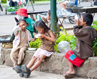 Street Children Stock Photo