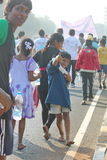 Street Children Hyderabad 10K Run Event, India Royalty Free Stock Photos