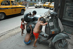 Street Children in India Stock Images