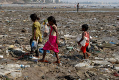 Street Children in Mumbai Stock Images