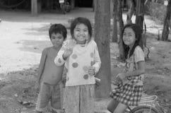 Street children. PHNOM PHEN, CAMBODIA MARCH 23: Unidentified street children posing on march 23 2013 in Phnom Phen,Cambodia.In Phnom Penh alone there are between stock photo