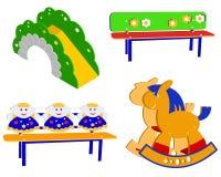 Street children's  furniture Stock Images