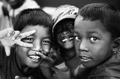 Street Children. Shot in the streets of Negros Oriental Philippines Stock Photography