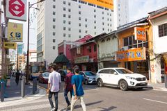 Street in Chinatown at Kuala Lumpur royalty free stock images