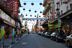 Street of Chinatown in San Francisco. August 2013 - Street of Chinatown in San Francisco during the day Royalty Free Stock Image