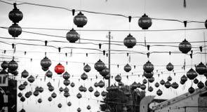 Street Chinese Lanterns Royalty Free Stock Photography