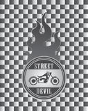 Street chopper motorcycle label art Stock Photos