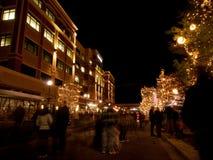 Street at Christmas Stock Image