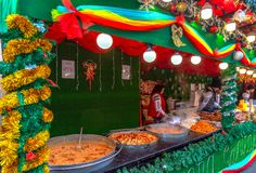 Street Christmas fair, Timisoara, Romania stock photos