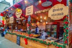 Street Christmas fair, Timisoara, Romania royalty free stock photography
