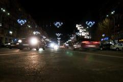 Street christmas lights Stock Photo