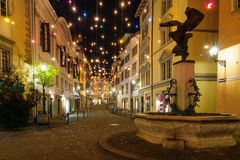 Street at Christmas, Zurich Stock Photo