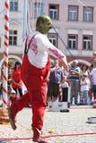 Street circus clown Stock Image