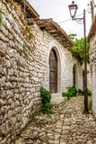 In the street citadel of Berat Royalty Free Stock Photo
