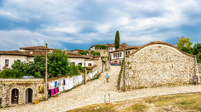 In the street citadel of Berat Royalty Free Stock Photography