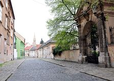 Street in the city of Bratislava, Slovakia, Europe Stock Photo