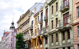 Street in the city of Brno, Czech Republic, Europe Stock Photos