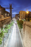 Street in the city of Cartagena at night, Murcia, Spain royalty free stock images