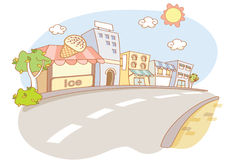 Street and city cartoon Stock Photo