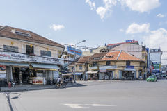 Street of city center, Da Lat, Vietnam. Đà Lạt or Dalat (pop. 206,105 as of 2009, of which 185,509 are urban inhabitants, is the capital of Lâm Đồng Royalty Free Stock Image