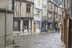 A street in city center of Le Mans Stock Photography