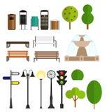 Street City Flat Design Elements. Vector Stock Photography