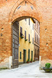 Street through a city gate Royalty Free Stock Photography