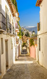 Street in the city of Granada, Spain Royalty Free Stock Photos
