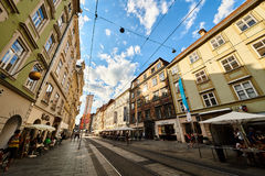 Street in City Graz Steiermark Stock Photo