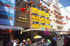 Street in the city of Hat Yai Royalty Free Stock Images