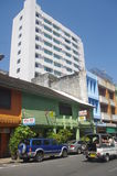 Street in the city of Hat Yai Stock Photos