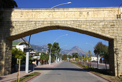 Street of City of Kemer, Turkey Stock Photo