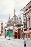 Street is in city Kolomna Stock Image