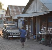 Street of a city of Madagascar stock image