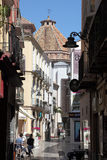 Street in the city of Malaga Royalty Free Stock Photos