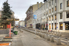 Street is in city Moscow Royalty Free Stock Photo