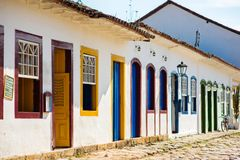 Street in the city of Paraty Stock Images