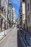 Street in the city of Santander Stock Images